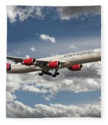 Virgin Airbus A340 G-vgas Fleece Blanket