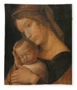 Virgin And Child 1470 Fleece Blanket