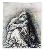Virgin And Child Madonna Of Humility 1490 Fleece Blanket