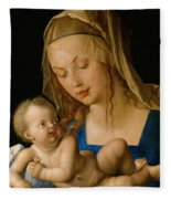 Virgin And Child With A Pear Fleece Blanket