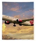 Virgin Atlantic Boeing 787 Dreamliner Fleece Blanket