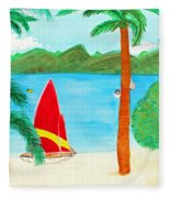 Virgin Island Memories Fleece Blanket
