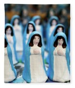 Virgin Mary Figurines Fleece Blanket