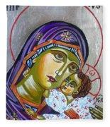 Virgin Of Tenderness Eleusa Fleece Blanket