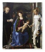 Virgin Of The Knight Of Montesa  Fleece Blanket