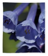 Virginia Bluebells Fleece Blanket