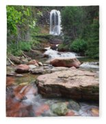 Virginia Falls - Glacier N.p. Fleece Blanket