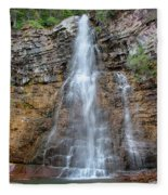 Virginia Falls - Glacier National Park Fleece Blanket