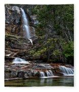 Virginia Falls In The Pool Fleece Blanket