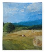 Virginia Hay Bales II Fleece Blanket