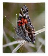 Virginia Lady Butterfly Side View Fleece Blanket