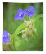 Virginia Spiderwort Fleece Blanket
