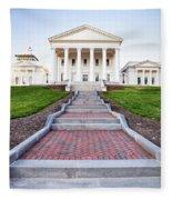 Virginia State Capitol Building Fleece Blanket