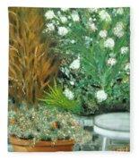 Virginia's Garden Fleece Blanket
