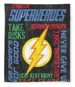 Virtues Of A Superhero 2 Fleece Blanket