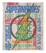 Virtues Of A Superhero Fleece Blanket
