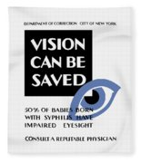 Vision Can Be Saved - Wpa Fleece Blanket