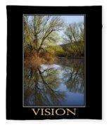 Vision Inspirational Motivational Poster Art Fleece Blanket