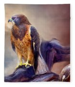 Vision Of The Hawk 2 Fleece Blanket