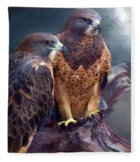 Vision Of The Hawk Fleece Blanket