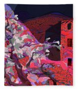 Vision Of The Ruins Fleece Blanket