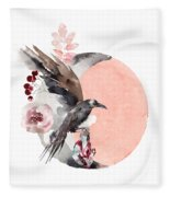 Visions Of Crystal Eyed Ravens Fleece Blanket