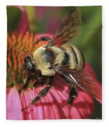 Visitor Up Close Coneflower  Fleece Blanket