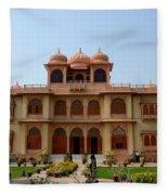 Visitors Wander Around Gardens Of Mohatta Palace Museum Karachi Sindh Pakistan Fleece Blanket