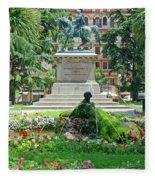 Vittorio Emanuele II Statue Fleece Blanket