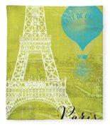 Viva La Paris Fleece Blanket