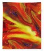 Vivid Abstract Vibrant Sensation IIi Fleece Blanket