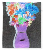 Vivid Arrangement Fleece Blanket