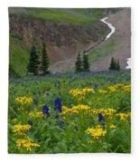 Vivid Colors Of The Colorado Alpine Fleece Blanket