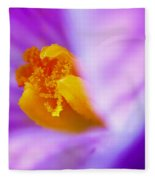 Vivid Crocus Detail Fleece Blanket