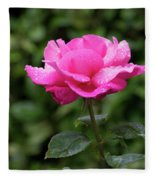 Vivid Pink Rose  Fleece Blanket