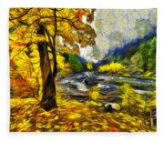 Vivid Pipeline Trail Fleece Blanket