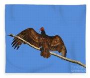 Vivid Vulture .png Fleece Blanket