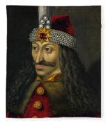 Vlad The Impaler Portrait  Fleece Blanket