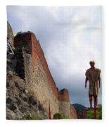 Dracula Aka Vlad The Impaler Real Castle Fleece Blanket