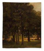 Vladimir Donatovich Orlovsky  Russian 1842  1914 Summer Landscape Fleece Blanket