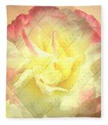 Voice Of The Heart A Rose Portrait Fleece Blanket