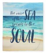 Voice Of The Sea Fleece Blanket