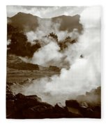 Volcanic Steam Fleece Blanket