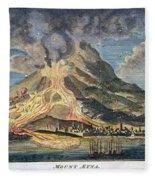 Volcano: Mt. Etna Fleece Blanket