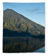 Volcano Reflected In Atitlan Lake 5 Fleece Blanket