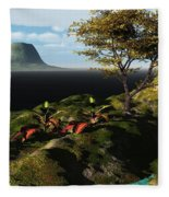 Volcano View Fleece Blanket
