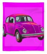 Volkswagen Beetle So Pinks Fleece Blanket
