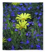 Voltage Yellow And Electric Blue 06 Fleece Blanket