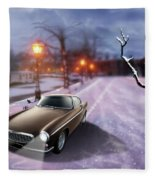Volvo P1800 Snow Scene Fleece Blanket