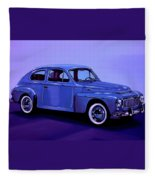 Volvo Pv 544 1958 Mixed Media Fleece Blanket